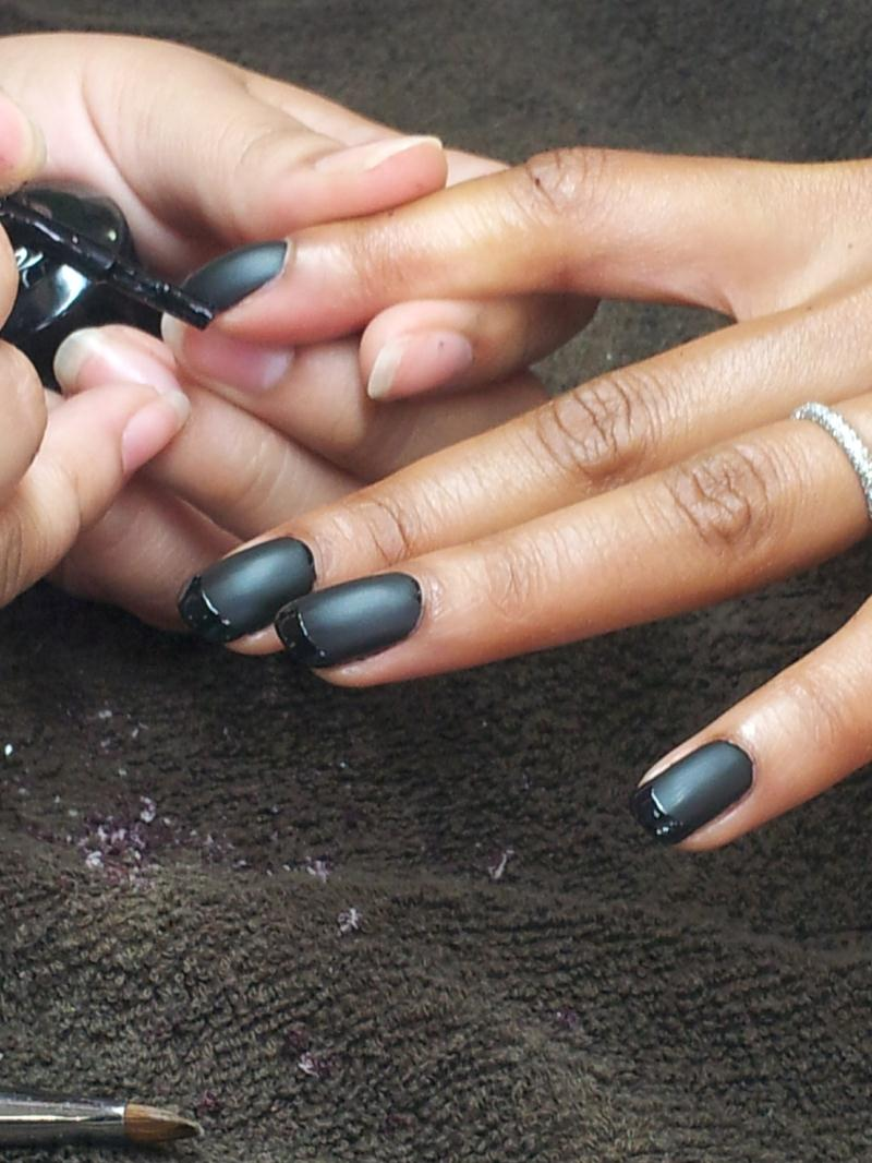 French Polish Pedicure Polish With Black French